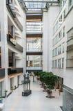欧洲议会内部在布鲁塞尔 免版税库存照片