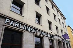 欧洲议会和欧盟执委会在弗罗茨瓦夫 库存照片
