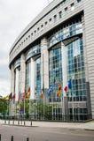 欧洲议会在布鲁塞尔,比利时 库存照片