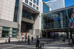 欧洲议会大厦的看法 库存照片