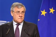 欧洲议会安东尼奥Tajani的总统 免版税库存照片