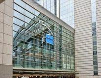 欧洲议会的大厦在布鲁塞尔 免版税库存照片