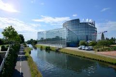 欧洲议会的门面在史特拉斯堡,法国 免版税库存图片