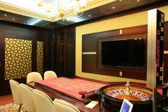 欧洲赌博娱乐场内部  库存图片