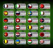 欧洲足球旗子 库存图片