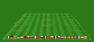 欧洲足球锦标赛- EM 2016年 免版税库存照片