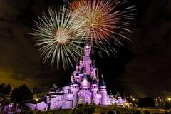 欧洲迪斯尼乐园巴黎比赛 免版税库存照片