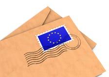 欧洲邮件 免版税图库摄影