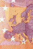欧洲金钱特写镜头 库存照片
