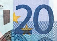 欧洲金钱特写镜头 免版税图库摄影
