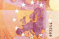 欧洲金钱特写镜头 库存图片