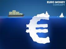 欧洲金钱的图形设计例证 库存照片
