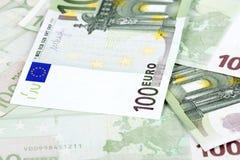 欧洲金钱背景 免版税库存图片