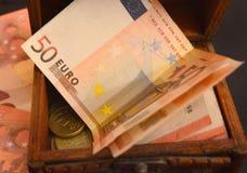 欧洲金钱钞票- 50欧元 免版税库存照片