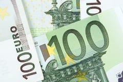 欧洲金钱,背景 免版税图库摄影