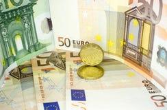 欧洲金钱11 库存图片