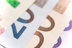 欧洲钞票爱好者,关闭 免版税库存图片