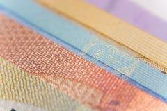 欧洲钞票爱好者,关闭 免版税图库摄影