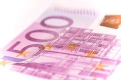 欧洲钞票,关闭 免版税库存照片