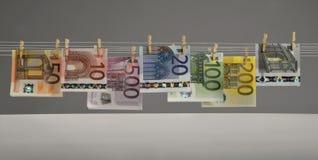 欧洲钞票 库存照片