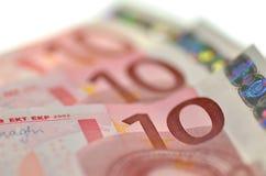 欧洲钞票 库存图片