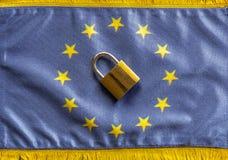 欧洲闭合值的边界 免版税图库摄影
