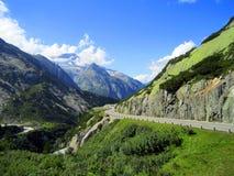 欧洲阿尔卑斯,山在夏天 免版税库存图片