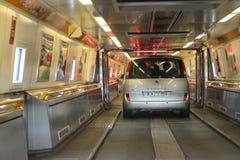 欧洲隧道火车 库存照片