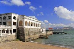 欧洲风格的别墅在gulangyu海边  免版税库存图片