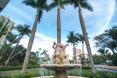 欧洲风格的喷泉 免版税库存图片