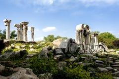 欧洲风格的庭院的废墟:Yuanmingyuan公园 库存图片
