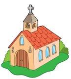 欧洲风格的教会 免版税库存照片