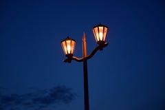 欧洲风格的街灯 免版税库存图片