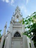 欧洲风格皇家cemetry在Wat Ratchabopit 库存照片