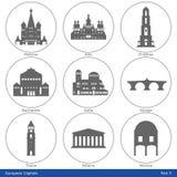 欧洲首都-象设置了(第5)部分 免版税库存照片