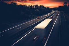 欧洲高速公路系统 图库摄影