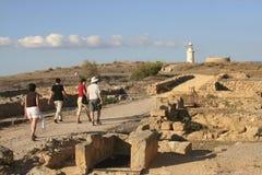 欧洲,塞浦路斯,帕福斯, archeo站点 库存照片