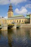 欧洲,斯堪的那维亚,瑞典,哥特人, Fattighusan运河,哥特人市博物馆, Svenska Kyrkan 免版税库存图片