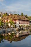 欧洲,瑞士,烟特勒根-环境美化在秋天- 2015年9月28日 免版税图库摄影