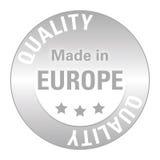 欧洲质量封条 免版税图库摄影