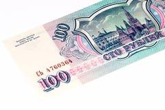 欧洲currancy钞票100俄罗斯卢布 库存图片