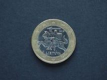 欧洲(EUR)硬币,货币欧盟(欧盟) 库存图片