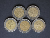 欧洲(EUR)硬币,货币欧盟(欧盟) 图库摄影