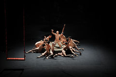 欲望奋斗现代芭蕾:中华的金莲花 库存图片
