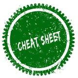 欺诈行为图表圆的难看的东西绿色邮票 图库摄影