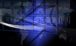 欺骗全球信息安全终止技术 免版税库存照片