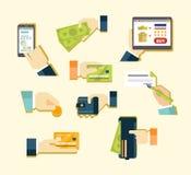 付款各种各样的方法  向量例证