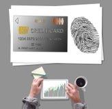 付款在书桌安置的安全概念 免版税库存照片