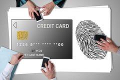 付款在书桌安置的安全概念 免版税库存图片