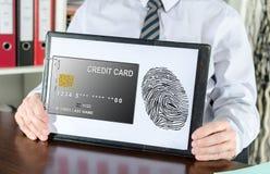 付款在剪贴板的安全概念 库存照片